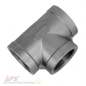 3/8 BSP Equal Female Tee Piece 3 Way T - SS 316 Stainless Steel